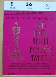 1997 03 24 Oscar Ticket