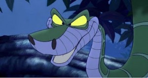 "Kaa the python from Disney's 1967 ""The Jungle Book"""