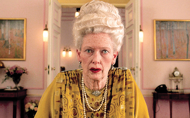 "Tilda Swinton in ""The Grand Budapest Hotel"""